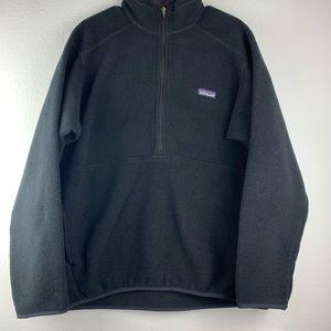 Patagonia Men's 1/4 Zip Black Fleece L